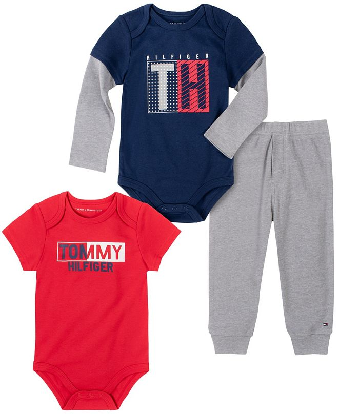 Tommy Hilfiger Baby Boys Bodysuits Pant Set