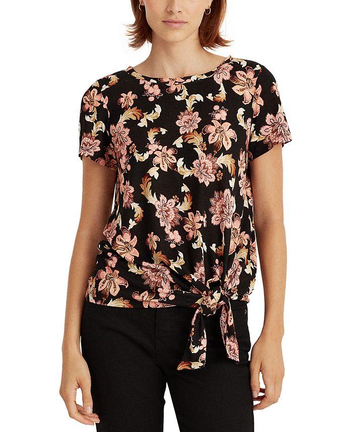 Lauren Ralph Lauren - Self-Tie Floral Top