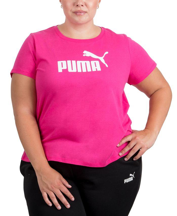 Puma - Plus Size Logo Crewneck T-Shirt