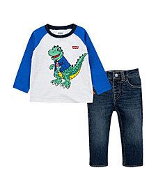 Levi's® Baby Boys Raglan T-Shirt and Jeans Set