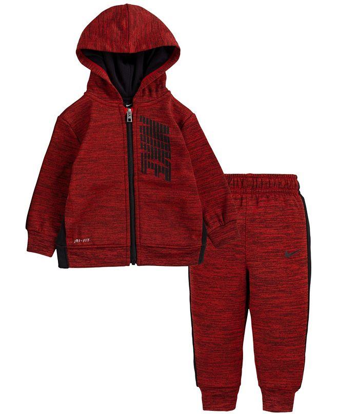 Nike Baby Boys Therma Full-Zip Hoodie and Joggers Set