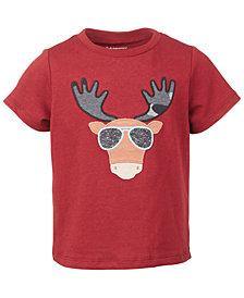 First Impressions Baby Boys Short Sleeve Cool Moose Tee, Created for Macy's