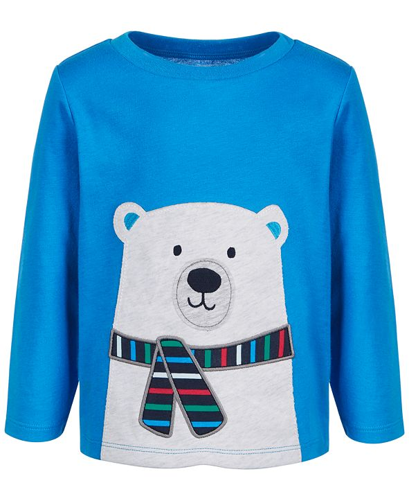 First Impressions Baby Boys Polar Bear T-Shirt, Created for Macy's