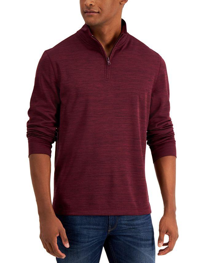 Club Room - Men's Quarter-Zip Tech Sweatshirt