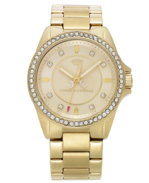 Juicy Couture Watch, Women's Stella Gold-Tone Stainless Steel Bracelet 38mm 1901076