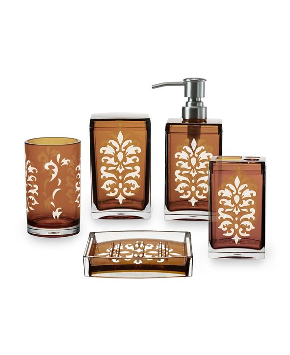 Immanuel Floral 5 Piece Bathroom Accessory Set