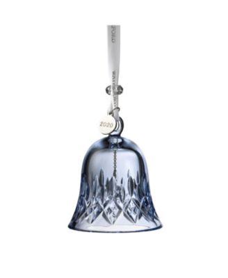 "Lismore Bell Ornament 3.3"" Topaz Ice"