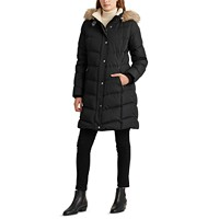 Deals on Lauren Ralph Lauren Womens Hooded Down Coat