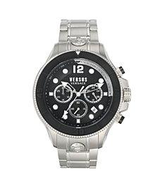 Versus by Versace Men's Volta Silver Tone Stainless Steel Bracelet Watch 49mm