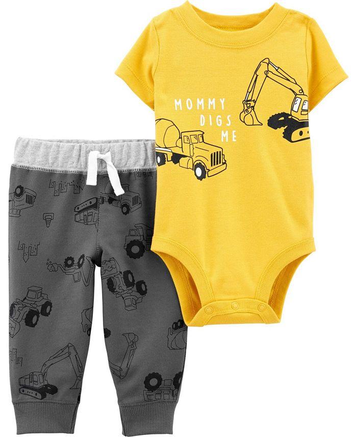 Carter's - Baby Boy  2-Piece Construction Bodysuit Pant Set