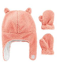 Carter's Baby Girl  2-Piece Sherpa Hat & Mittens Set