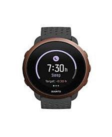 Suunto 3 Men's Slate Gray Silicon Strap Copper Compact Sports Watch, 43mm