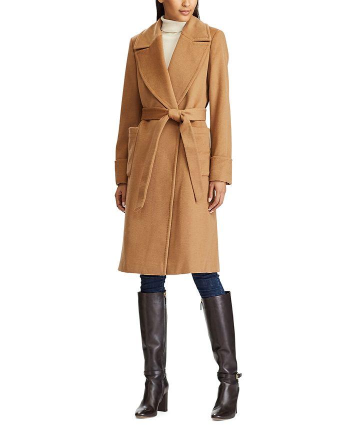Lauren Ralph Lauren - Wool-Blend Wrap Coat