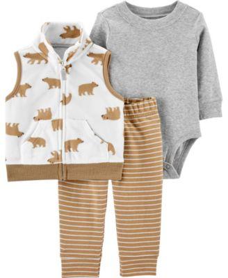 Big Boy 3-Piece Bear Little Vest Set
