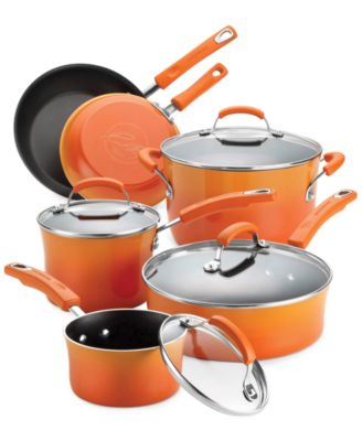 Rachael Ray Hard Enamel 10 Piece Cookware Set