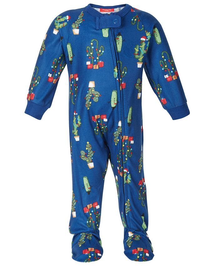 Family Pajamas - Baby Holiday Cactus Footed 1-Pc. Pajama