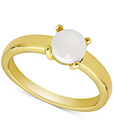 Opal Solitaire Ring (1/2 ct. t.w.) in 18k Gold-Plated Sterling Silver