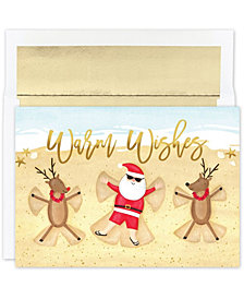 Masterpiece Cards Beach Angels Holiday Boxed Cards, 18 Cards and 18 Foil Lined Envelopes