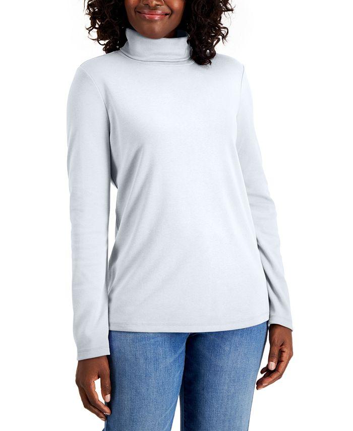 Karen Scott - Cotton Turtleneck Sweater