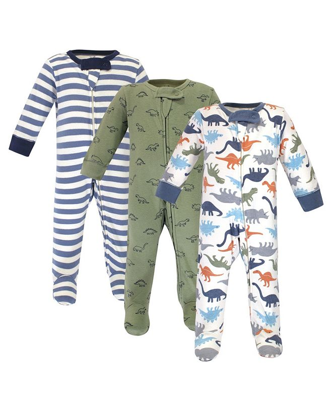 Touched by Nature Baby Boys and Girls Dinosaurs Sleep and Play Set, Pack of 3