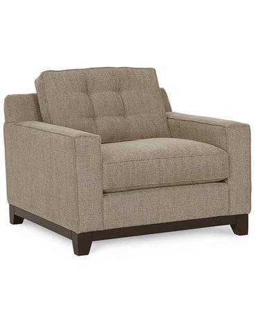 Clarke Fabric Living Room Chair Furniture Macy 39 S