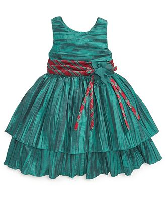 Dress little girls sleeveless crinkle holiday dress kids macy s