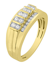 Men's Diamond (1/2 ct. t.w.) Ring in 10K White or Yellow Gold