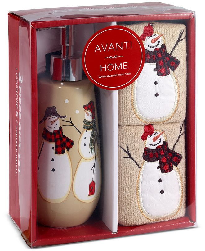 Avanti Snowman Gathering 3-Pc. Bath Box Set