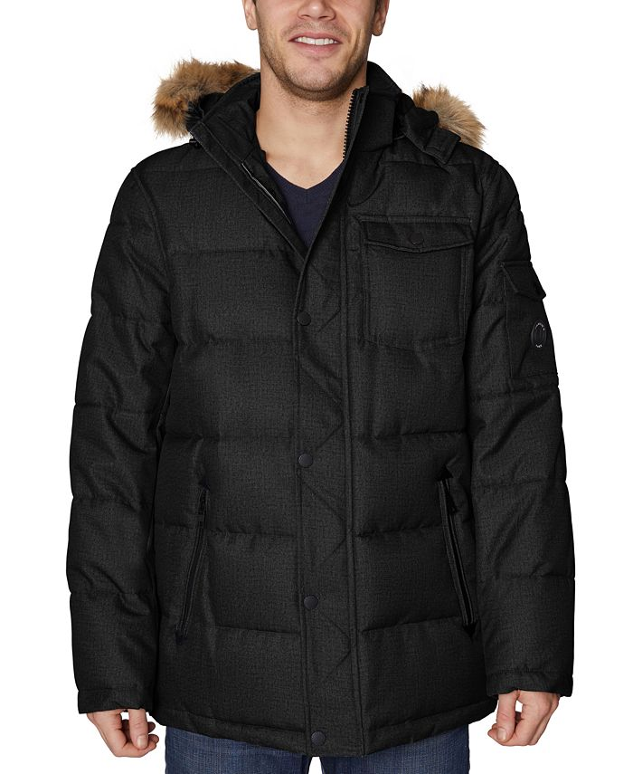 Nautica - Men's Parka with Removable Faux-Fur Trimmed Hood