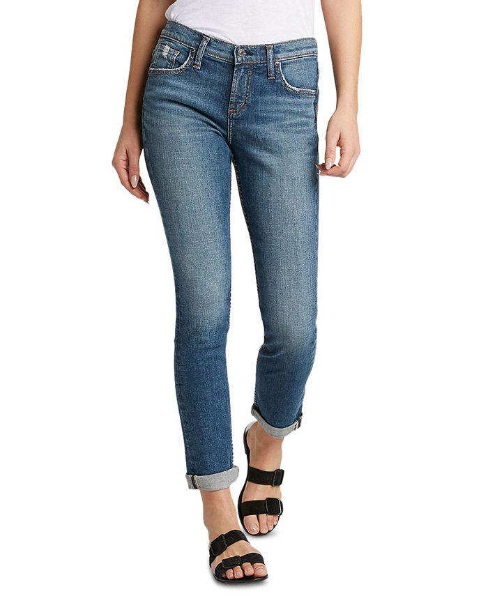 Silver Jeans Co. - Trendy Plus Size Beau Slim-Leg Boyfriend Jeans