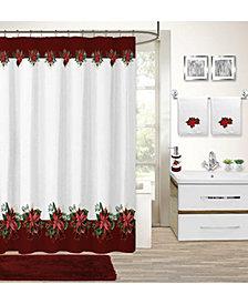 CLOSEOUT! Idea Nuova Holiday Poinsettia 17-Pc. Bath Set