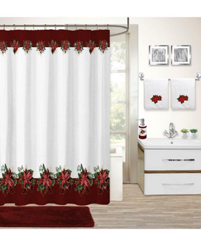 Idea Nuova - Holiday Poinsettia 17-Pc. Bath Set