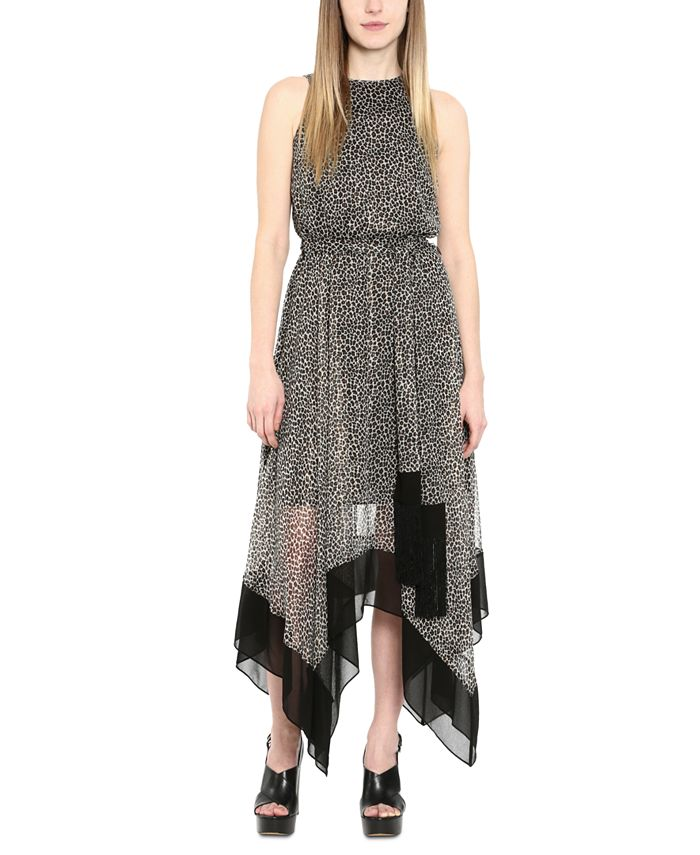Michael Kors - Michael Michael Kors Printed Handkerchief-Hem Dress