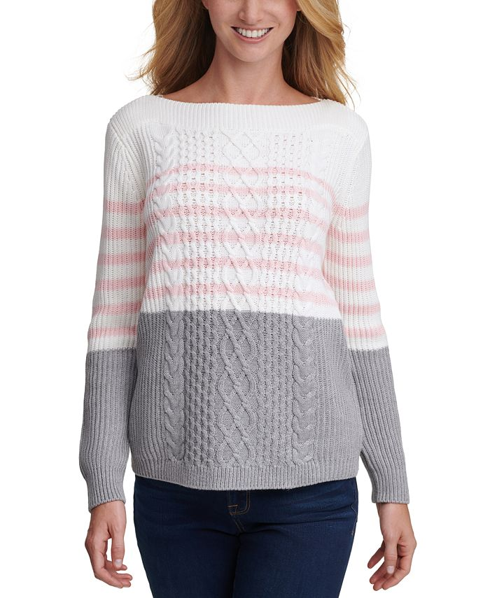 Tommy Hilfiger - Cate Veri Striped Cable-Knit Sweater