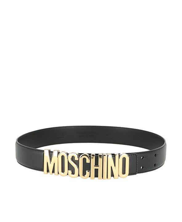 Moschino Women's Leather Logo Thick Belt (39% Off) --Comparable Value $295