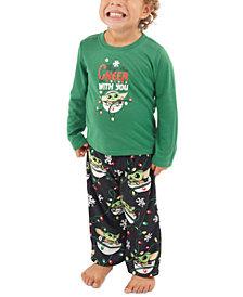 Matching Toddler Holiday Baby Yoda Family Pajama Set