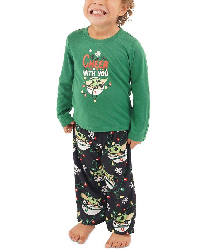 Munki Munki - Toddler 2-Pc. Baby Yoda Holiday Pajama Set