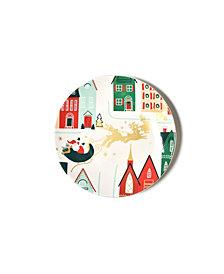 Coton Colors Retro Christmas Village Salad Plate
