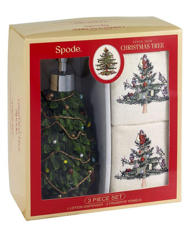 Spode Christmas Trees Fingertip Box Set