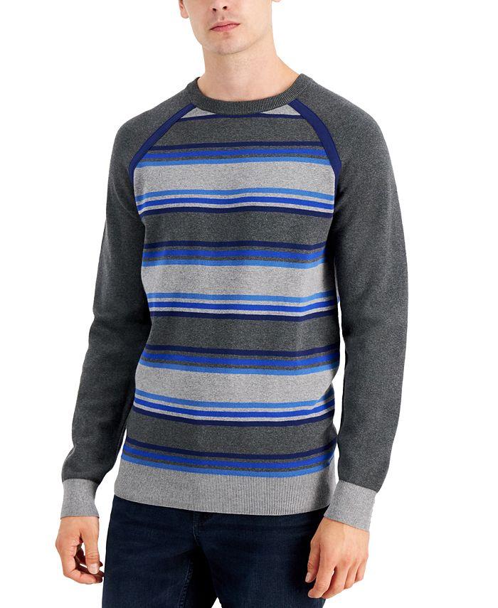 DKNY - Men's Striped Raglan Sweater