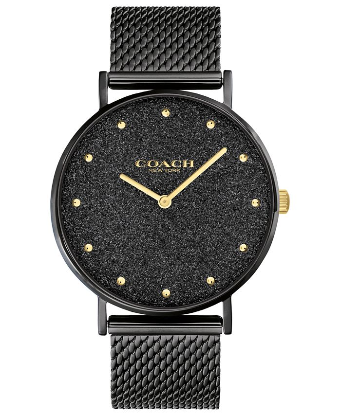 COACH - Women's Perry Black-Tone Bracelet Watch 36mm