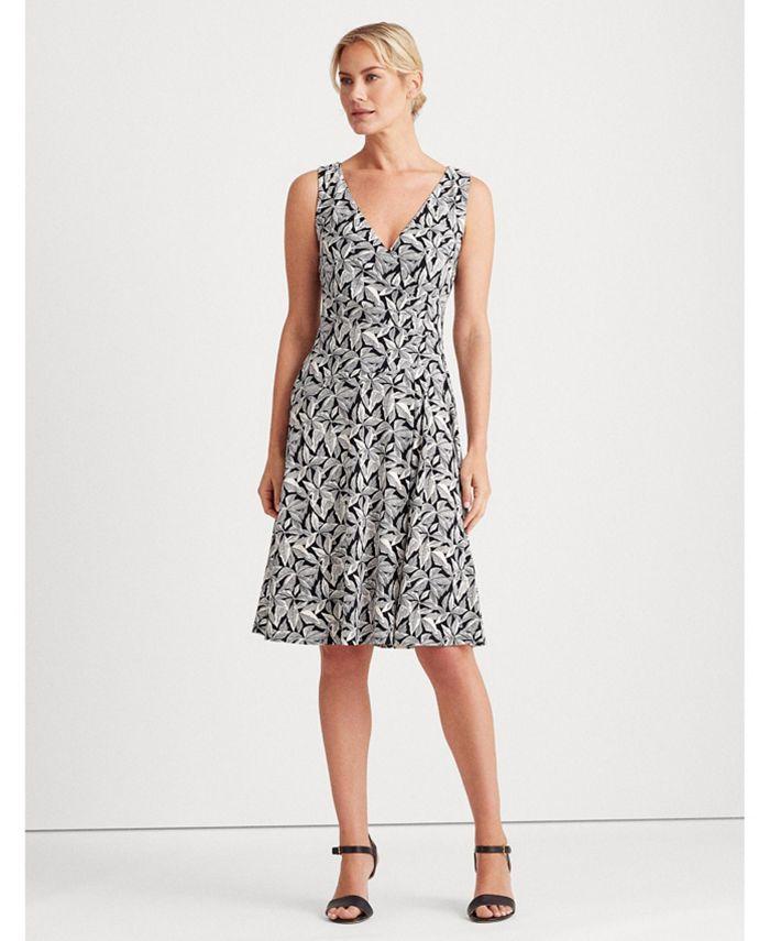 Lauren Ralph Lauren - Printed Jersey Surplice Dress