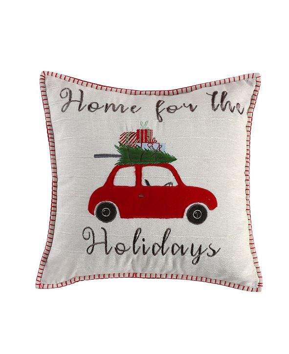 """Levtex Christmas Road Trip Home for The Holidays 18"""" Decorative Pillow"""