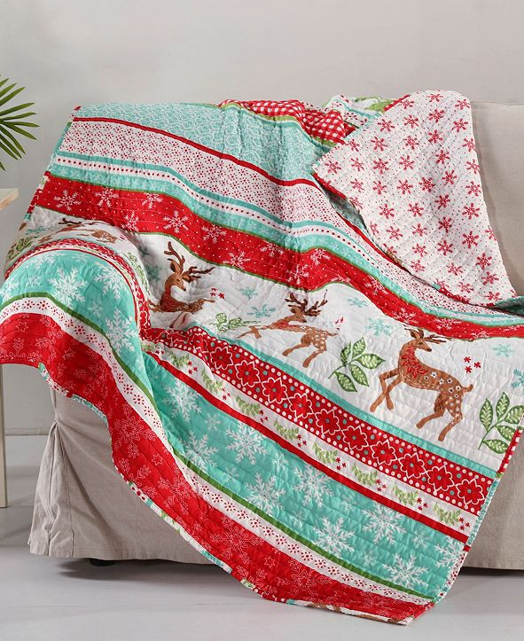 Levtex Let it Snow Reversible Quilted Throw