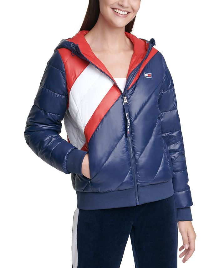 Tommy Hilfiger - Striped Hooded Puffer Jacket