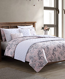 Hallmart Collectibles Farrington 8-Pc. Reversible King Comforter and Coverlet Set
