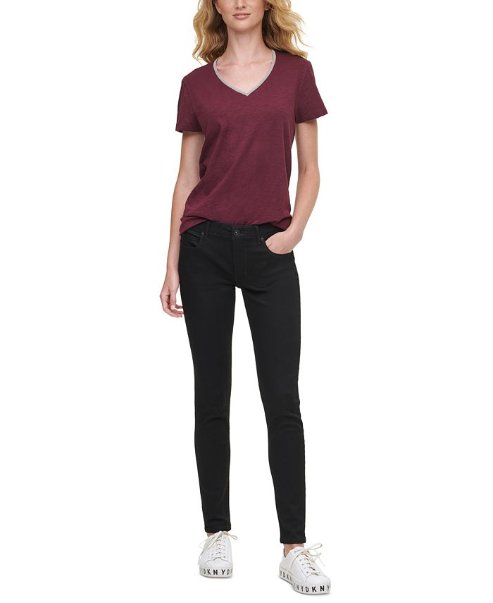 DKNY Jeans - Mid Rise Skinny Jeans