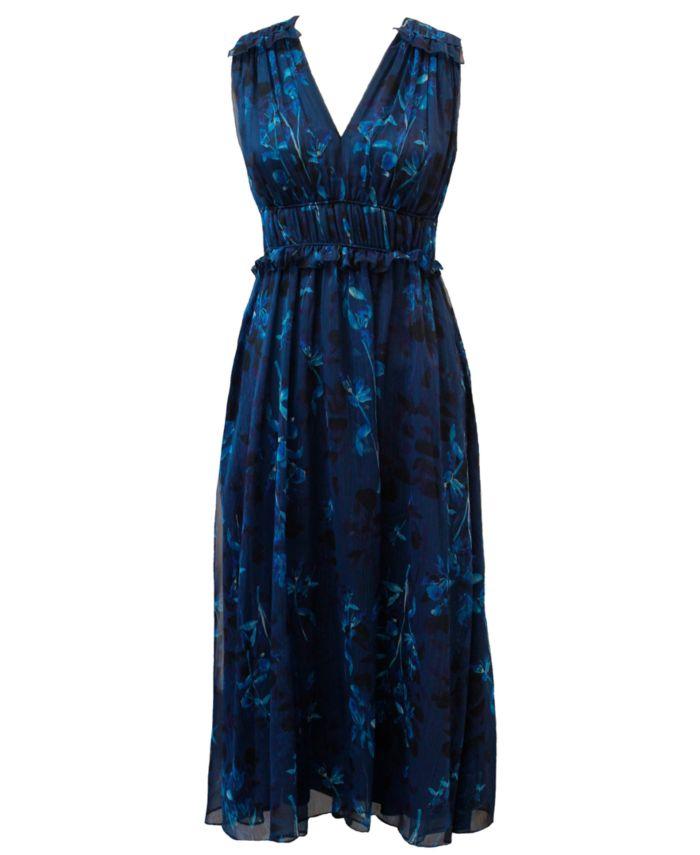 Taylor Shirred Chiffon Dress & Reviews - Dresses - Women - Macy's