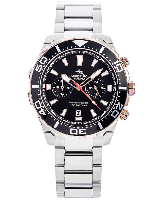 Strumento Marino Men's Skipper Chronograph Stainless Steel Bracelet Watch 44mm, Created for Macy's