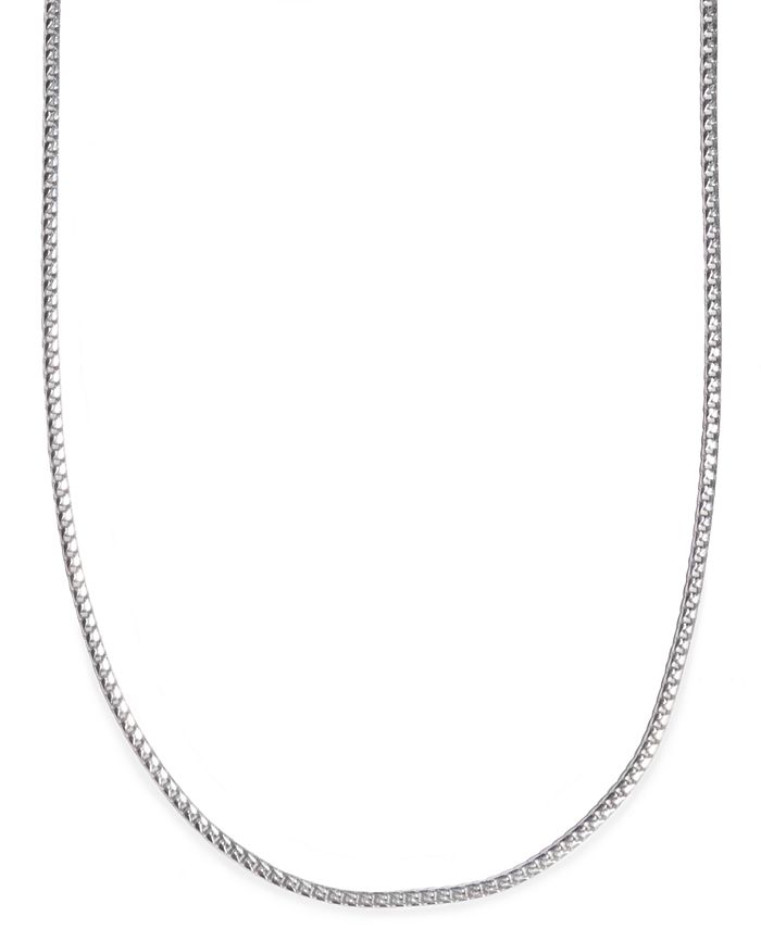 "Macy's - 24"" Men's Franco Box Chain Necklace in Sterling Silver"